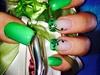 Green Shade With Nail Art