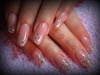 long gliter nails