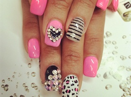 nail art: cute design :D