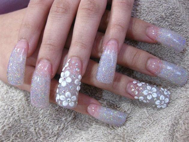 silver rainbow glitter, love this!!