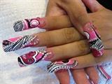 pink, zebra