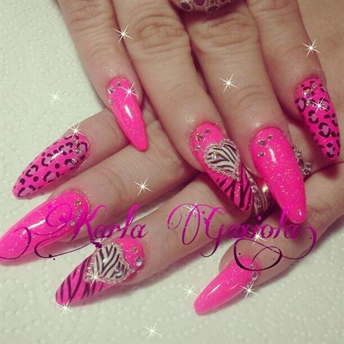 pink, animal print