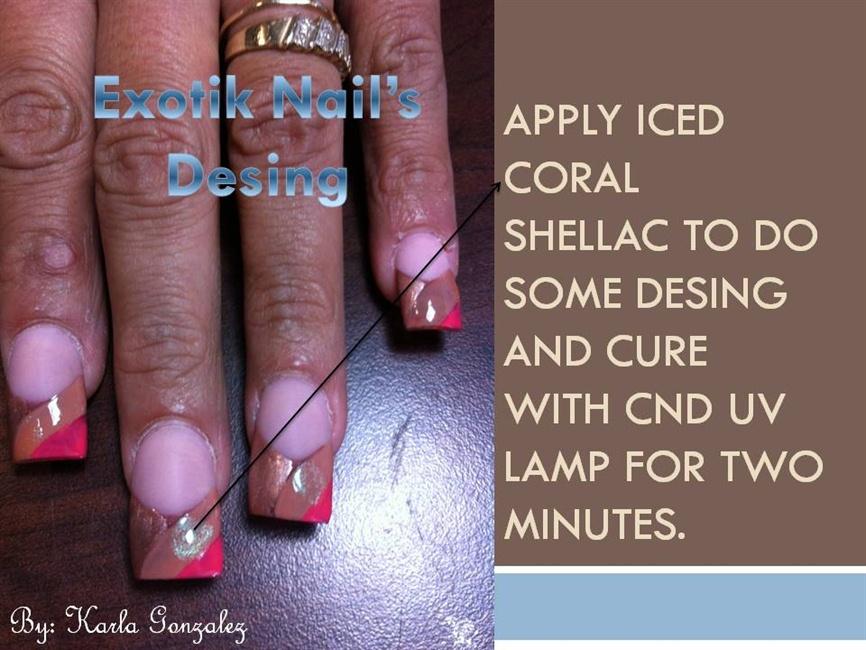 Shellac Design Nail Art Gallery Step By Step Tutorial Photos
