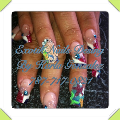 exotik nails desing