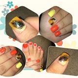 Orange Yellow Pluma