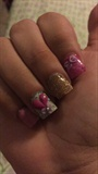 Gold Pink Laso Corazon Confetti