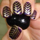 Metallic Chevron Nails