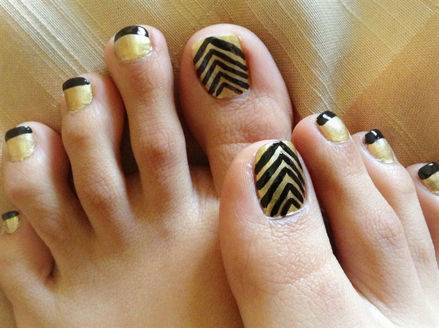 Chevron toe nails nail art gallery chevron toe nails prinsesfo Images