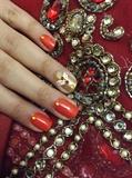 Indian Wedding party Nail Art