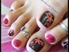 Floral toe nails