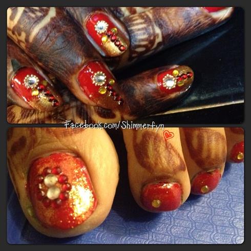 Indian Wedding nail art