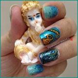 Krishna janmashtami inspired nails