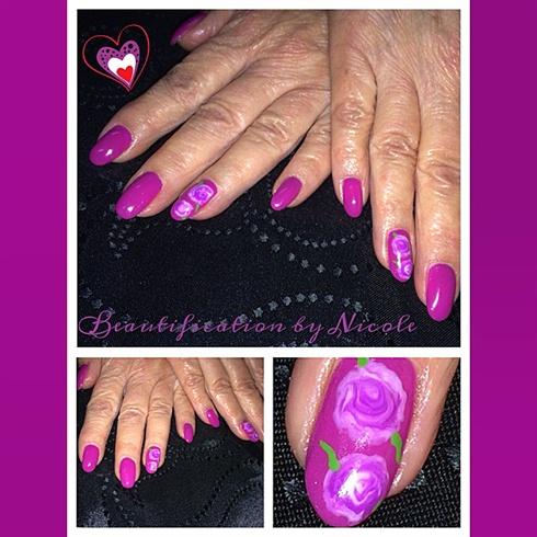 Vintage Rose Gel Nails