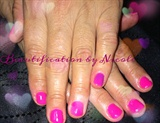 Hot Pink Gel Manicure