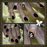 Monarch Butterfly Gel Nails