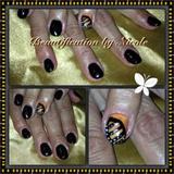 Monarch Butterfly Gel Nails
