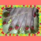 Strawberry Gel Nails