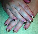 Leopard Print Gel Manicure
