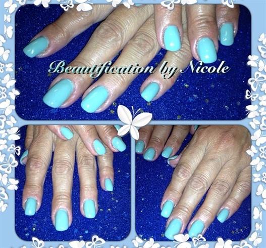 Tiffany Blue Gel Nails