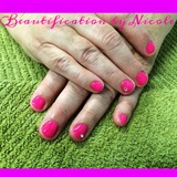 Hot Pink Luxio Gel Manicure