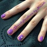 Gel Mani With Glitter