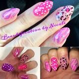 Lisa Frank Inspired Almond Nails