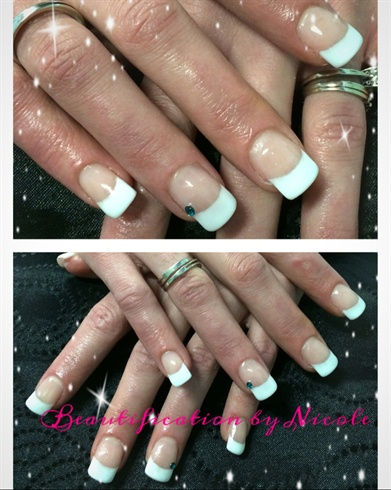 French Gel Nails With A High Smile Line Nail Art Gallery