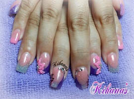 nail art: Purple love