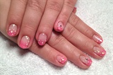 Pink gradation + Hologram + Stones