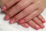 "Hand-painted ""Sakura"" nail art"