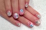 Tarashikomi flower nail art