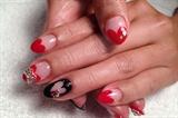 Valentine's Heart theme nail art
