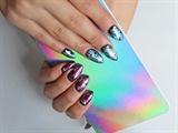 Pink & Blue Metallic Foils