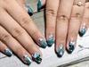 Turquoise Foil Nail Art