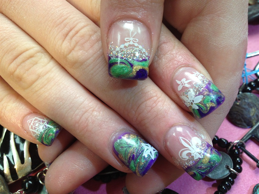 Mardi Gras - Nail Art Gallery