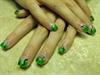 Mica's green nail art