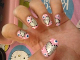 my cutie hearty nail art..