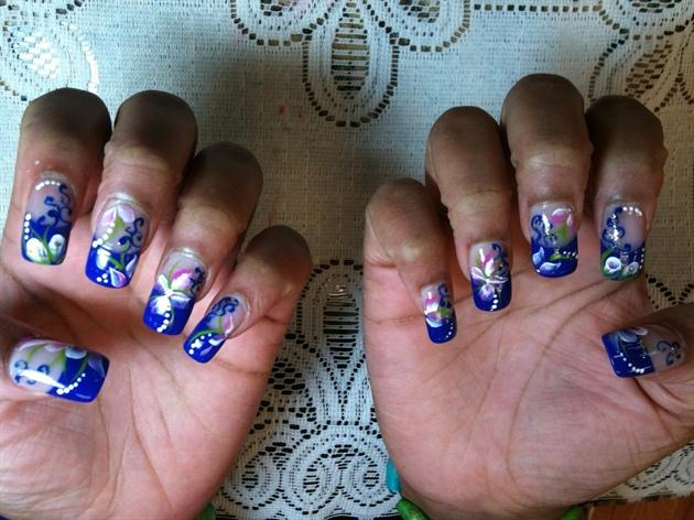 Flowers on Purple!