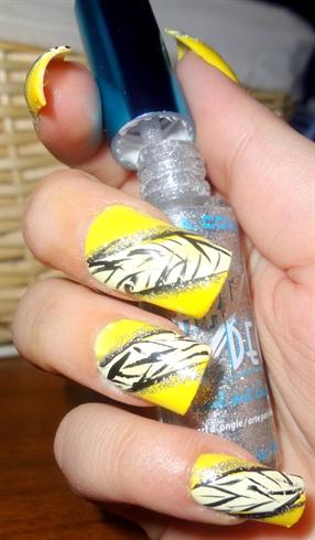 Fancy Zebra Nails for Summer