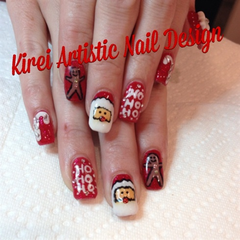 Gel Nail Designs Xmas Nail Arts