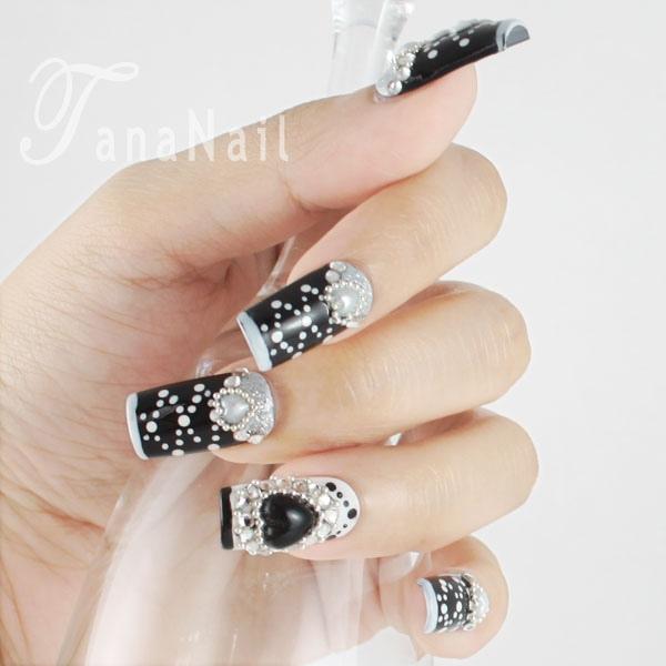 Japanese nail art - Black Mystery - Nail Art Gallery