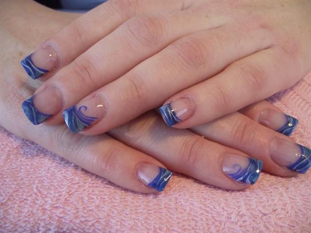 blue marble nail