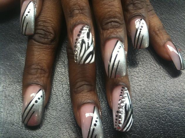 Silver & Black Zebra