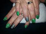 Saskatchewan Roughriders Nail art