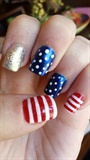 July 4th Flag Nail art