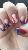Spring Baseball Nail Art