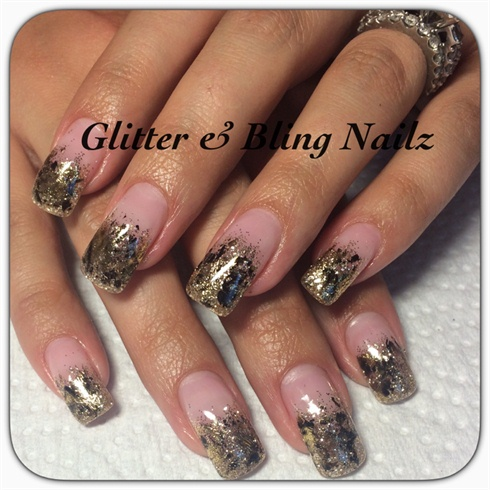 Transfer Foils With Gold Glitter