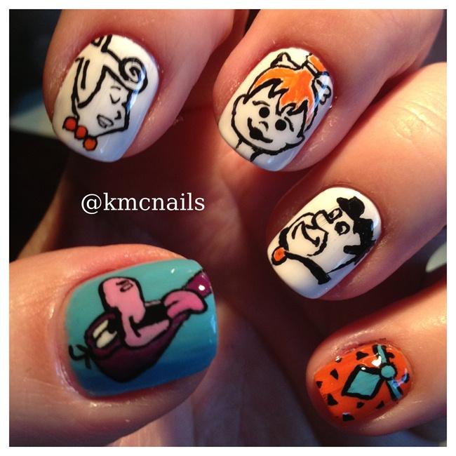 Meet the Flintstones - Nail Art Gallery