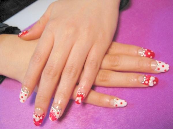 Acrylic sweet nail