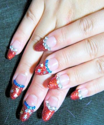 American style nail art